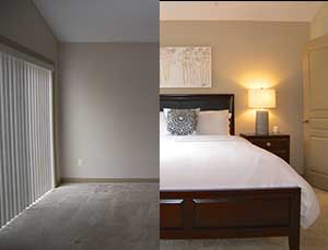 Home Staging Before & After Photos